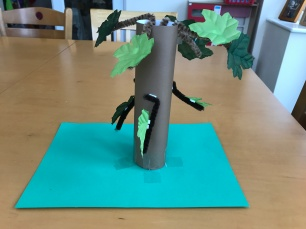 use pipe cleaners for branches and attach leaves