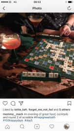 playing scrabble on honeymoon